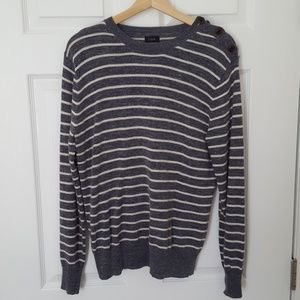 Men's Jcrew Stripped Sweater Crew Neck Sz M